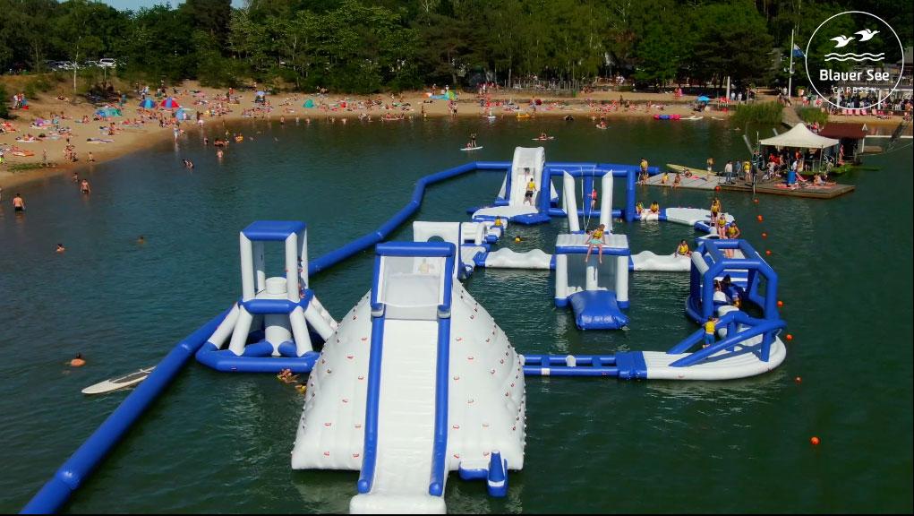 Schwimmen blaue lagune hannover Kreidewand an